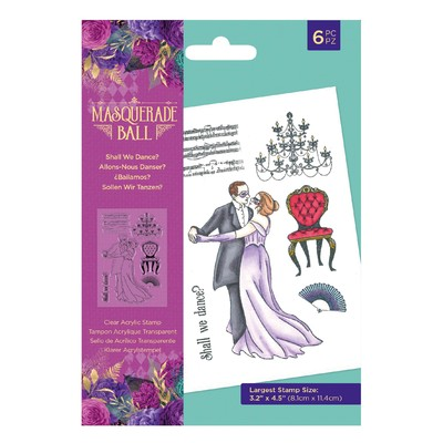 Clear Stamp, Masquerade Ball - Shall We Dance?