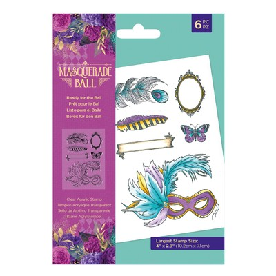Clear Stamp, Masquerade Ball - Ready for the Ball