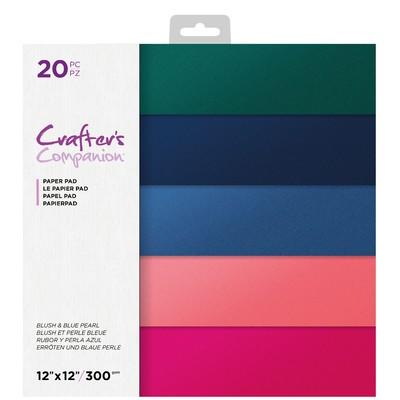 12X12 Paper Pad, Blush & Blue Pearl