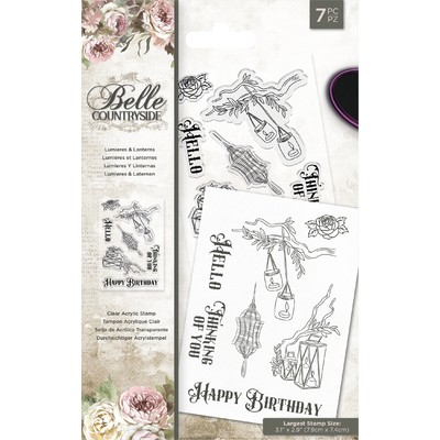 Clear Stamp, Belle Countryside - Lumieres & Lanterns
