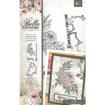 Clear Stamp & Die Set, Belle Countryside - Statement Floral
