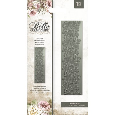 3D Embossing Folder, Belle Countryside - Floral Lace