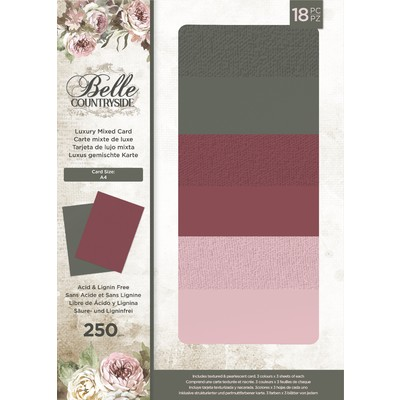 A4 Luxury Mixed Cardstock, Belle Countryside