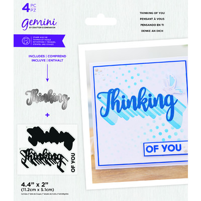Gemini Clear Stamp & Die Set, Thinking of You