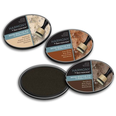 Harmony Water Reactive Ink Pad, Earthy Browns (3pc)
