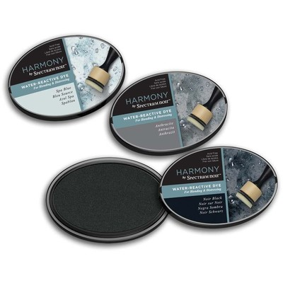 Harmony Water Reactive Ink Pad, Cool Neutrals (3pc)