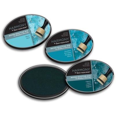 Harmony Water Reactive Ink Pad, Aqua Blues (3pc)