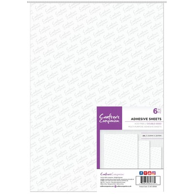 A4 Adhesive Sheets, Double Sided (6pc)