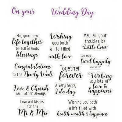 Clear Stamp, Verse & Font - Wedding