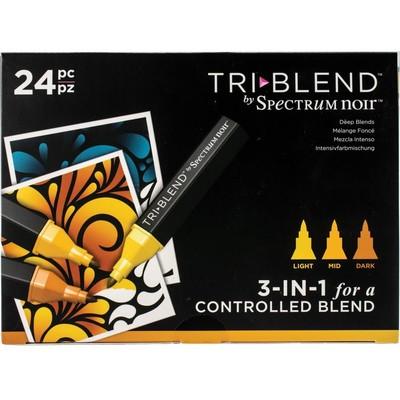 Tri Blend Marker Set, Deep Blends (24 Piece)