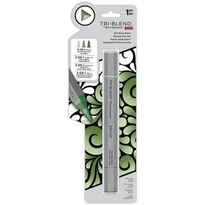 Tri Blend Brush Marker, Dull Green Blend