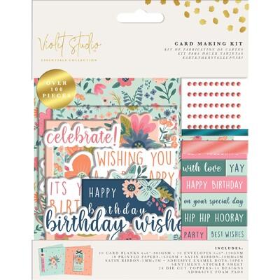 Violet Studio Card Making Kit, Birthday - Florals