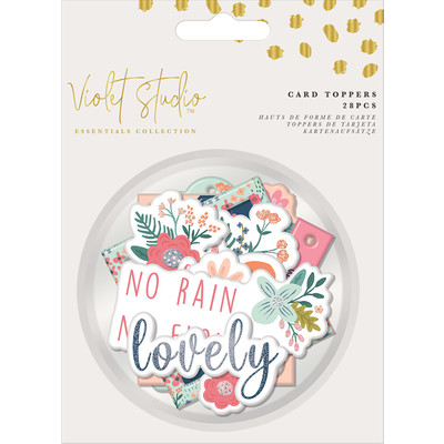 Violet Studio Assorted Card Toppers, Florals (28pc)