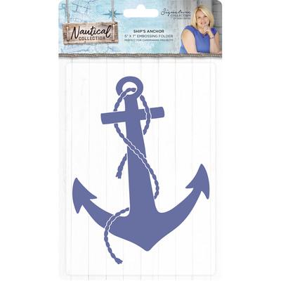 Sara Signature Emb. Folder, Nautical - Ship's Anchor