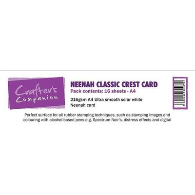 A4 Neenah Classic Crest Card, Solar White