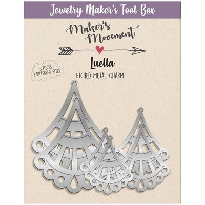 Etched Metal Charms, Luella Chandelier