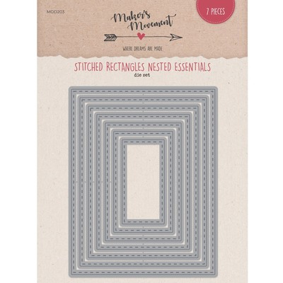 Die, Nested Essentials - Stitched Rectangle Rectangles