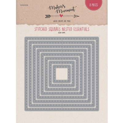 Die, Nested Essentials - Sitched Squares