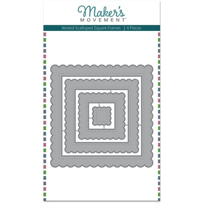 Die, Nested Scalloped Square Frames
