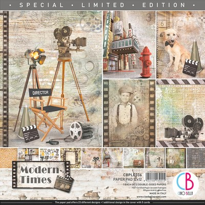 12X12 Paper Pad, Modern Times *Limited Edition*