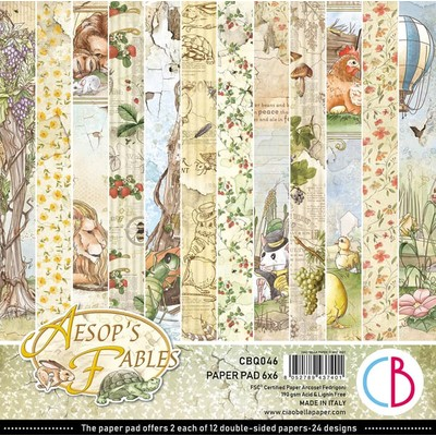 6X6 Paper Pad, Aesop's Fables