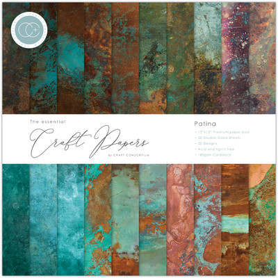 12X12 Essential Craft Papers Pad, Patina