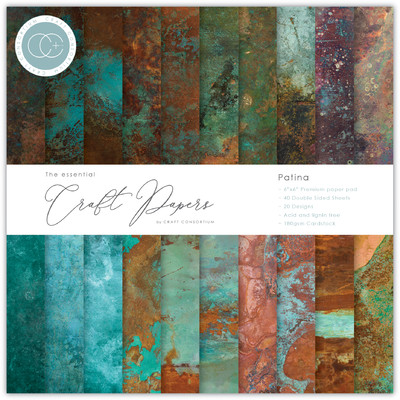 6X6 Essential Craft Papers Pad, Patina
