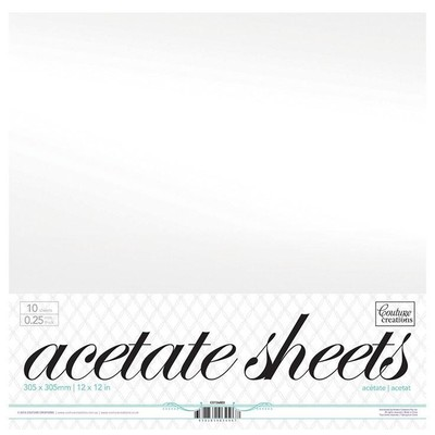 12X12 Acetate Sheets, 10 Pack