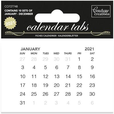 Calendar Tabs, 2021