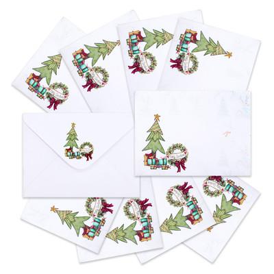 4X6 Envelopes, Deck the Halls - Snowy surprise