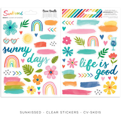 Clear Stickers, Sunkissed