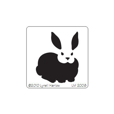 Stencil, Large Rabbit
