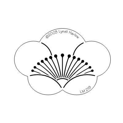 Stencil, Plum Blossom Shape