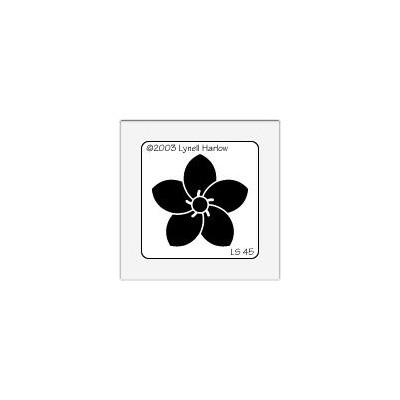 Stencil, Plumeria Crest