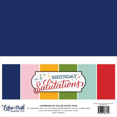12X12 Solids Kit, Birthday Salutations