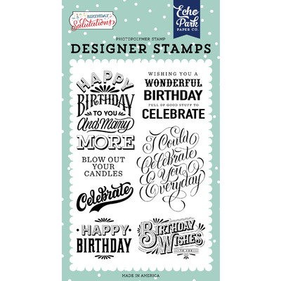 Clear Stamp, Birthday Salutations - Birthday Wishes