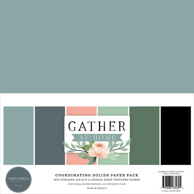 12X12 Solids Kit, Gather at Home