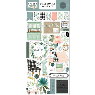 Chipboard Accents, Gather at Home