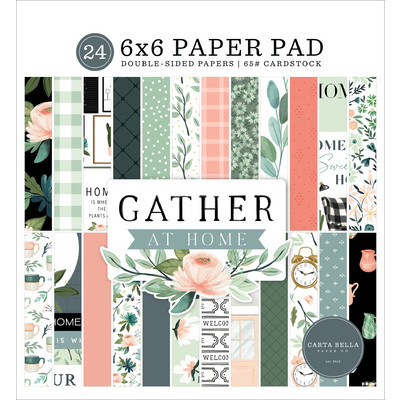 6X6 Paper Pad, Gather at Home