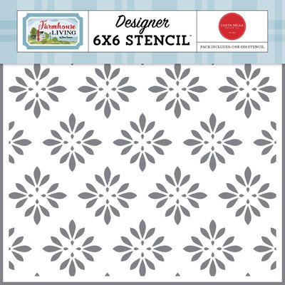Stencil, Farmhouse Living - Country Floral