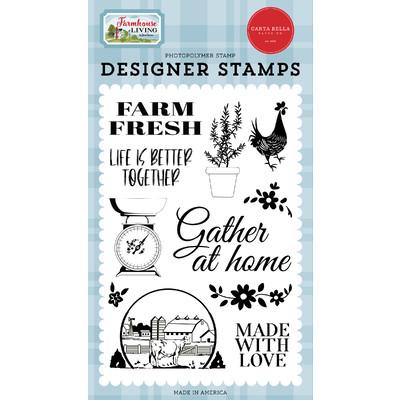 Clear Stamp, Farmhouse Living - Farm Fresh