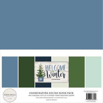 12X12 Solids Kit, Welcome Winter