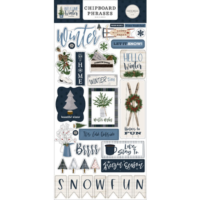 Chipboard Phrases, Welcome Winter