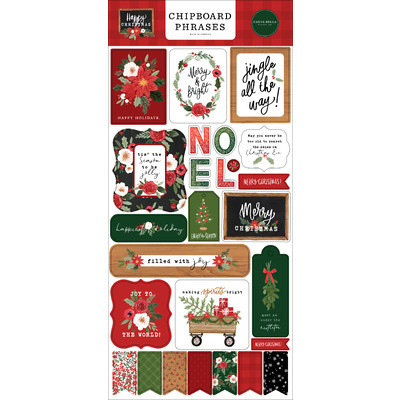 Chipboard Phrases, Happy Christmas