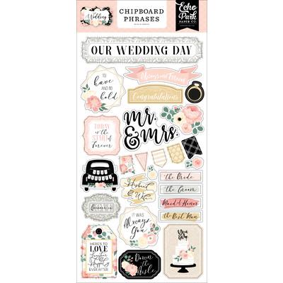 Chipboard Phrases, Wedding