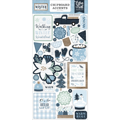 Chipboard Accents, Winter