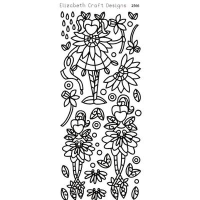 Peel-off, Flower Cuties 1 Black