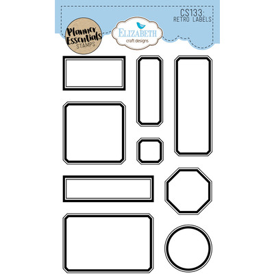 Clear Stamp, Retro Labels