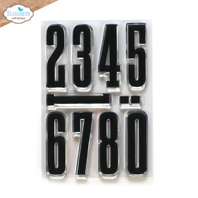 Clear Stamp, Long & Tall Numbers