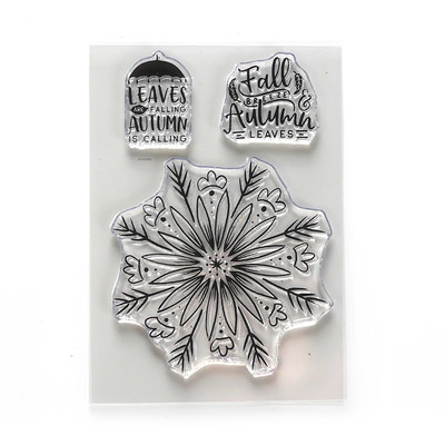 Clear Stamp, Autumn Leaves